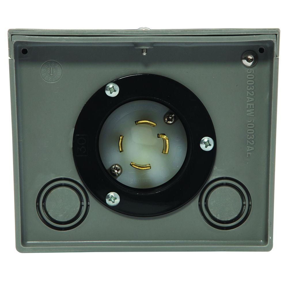 medium resolution of generac 30 amp raintight power inlet box