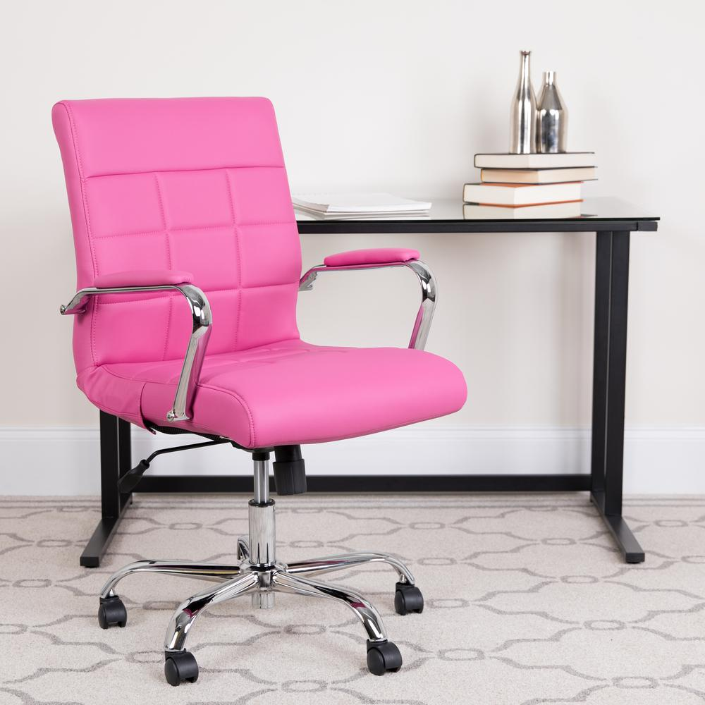 Pink Office Chairs Flash Furniture Pink Office Desk Chair Go2240pk The Home Depot