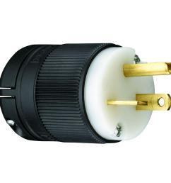 legrand pass and seymour clamp lock 20 amp 125 volt straight blade plug [ 1000 x 1000 Pixel ]