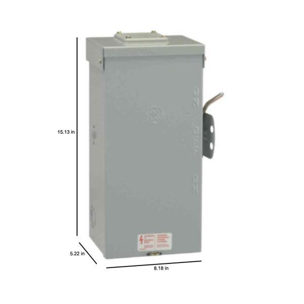 ge 100 amp 240volt nonfused emergency power transfer