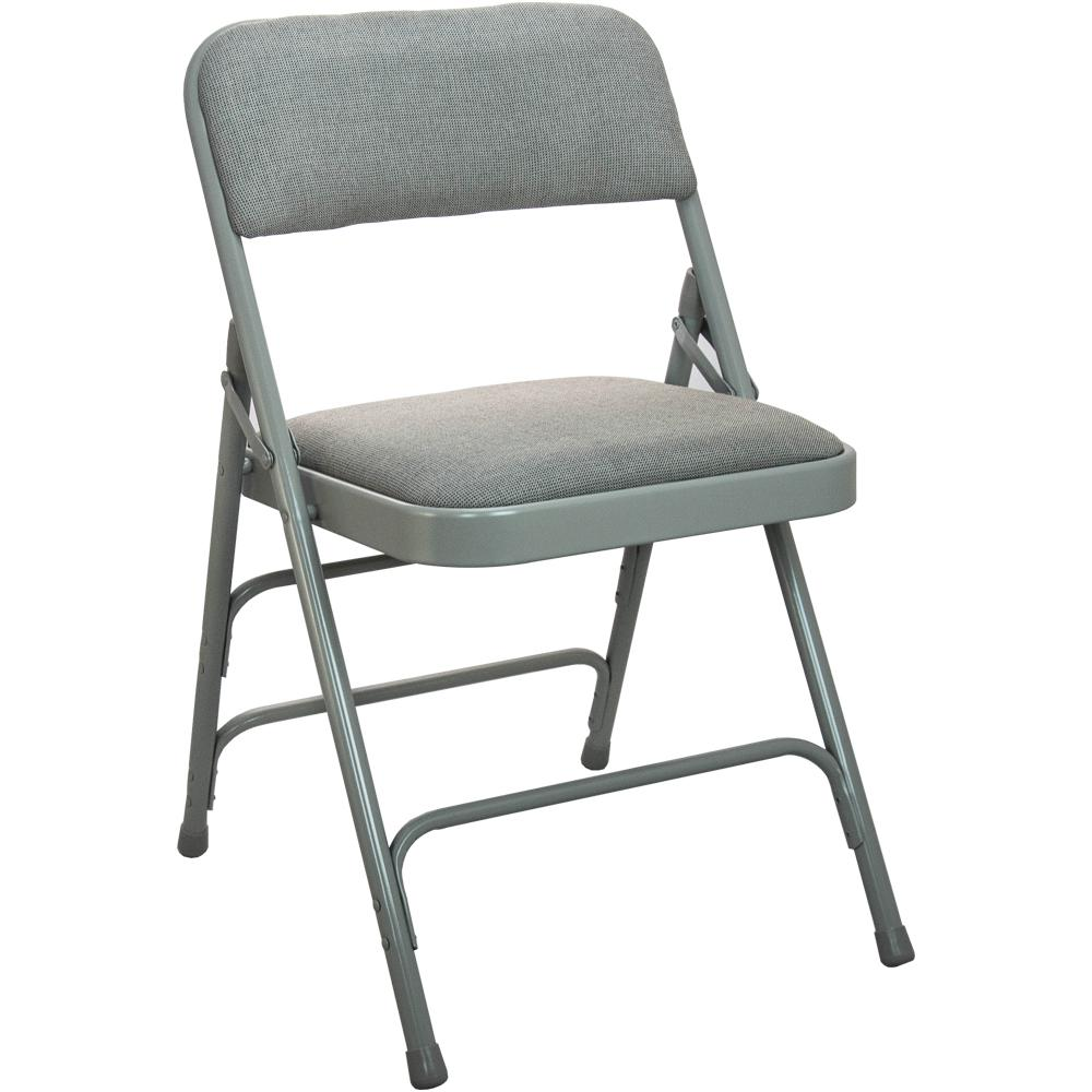 cushioned folding chairs ikea childrens advantage 1 in grey fabric seat padded metal chair dpi903f