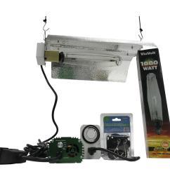 viavolt 1000 watt electronic hps mh 120 240 bat wing grow light system [ 1000 x 1000 Pixel ]