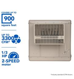 champion cooler 3300 cfm 2 speed window evaporative cooler for 900 sq ft  [ 1000 x 1000 Pixel ]