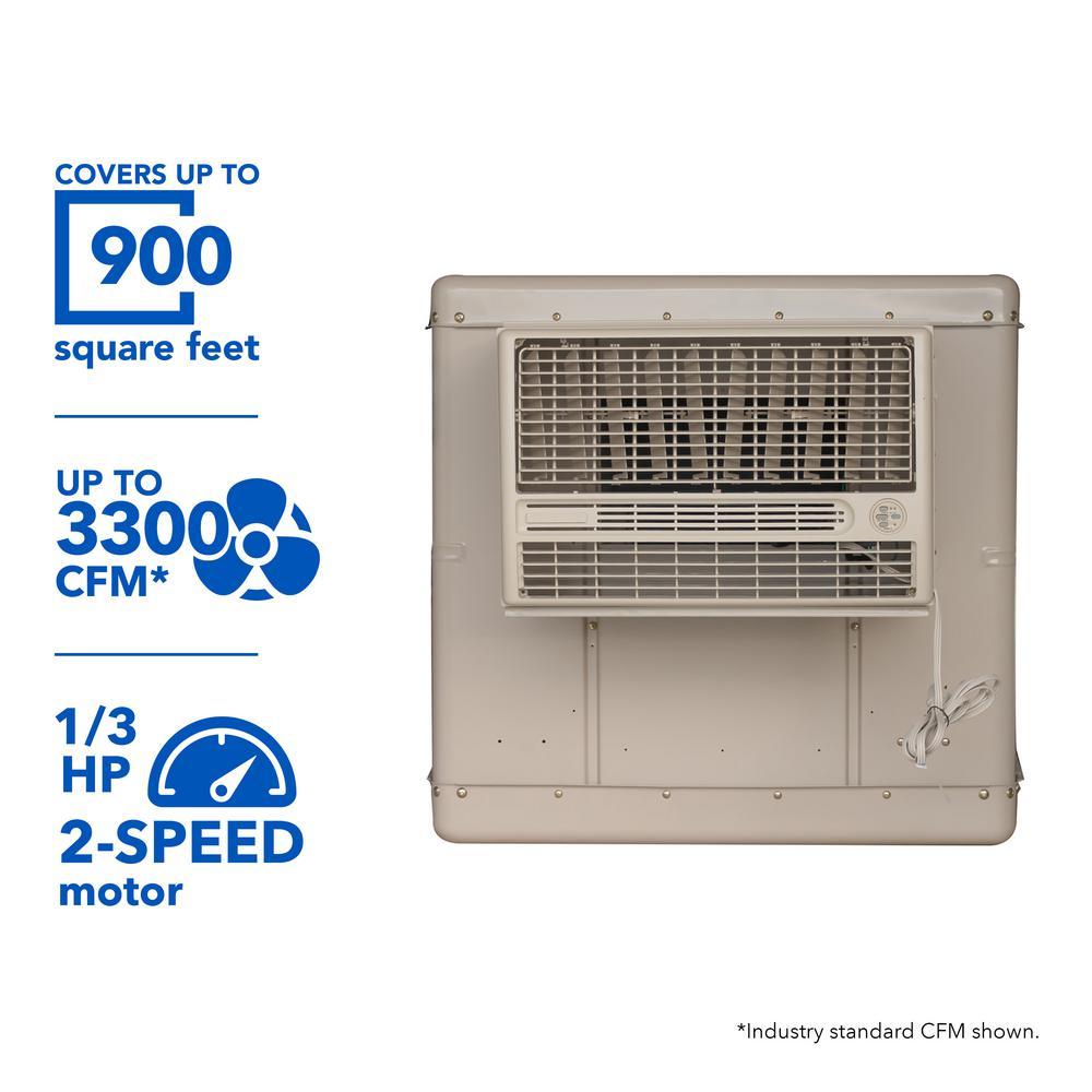 medium resolution of champion cooler 3300 cfm 2 speed window evaporative cooler for 900 sq ft