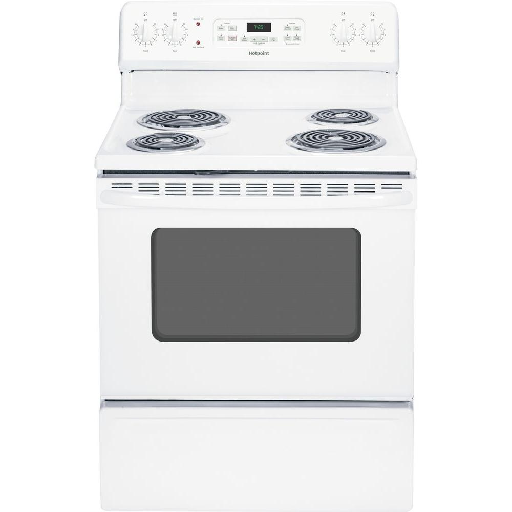 hotpoint electric stove wiring diagram power door lock 5 0 cu ft range with self cleaning oven in white