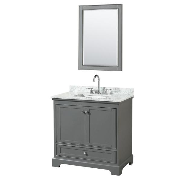 Dark-Gray Bathroom Vanity