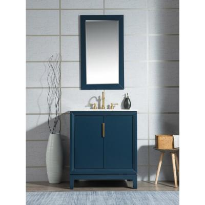 Water Creation Elizabeth 60 In Monarch Blue With Carrara White Marble Vanity Top With Ceramics White Basins Vel060cwmb00 The Home Depot
