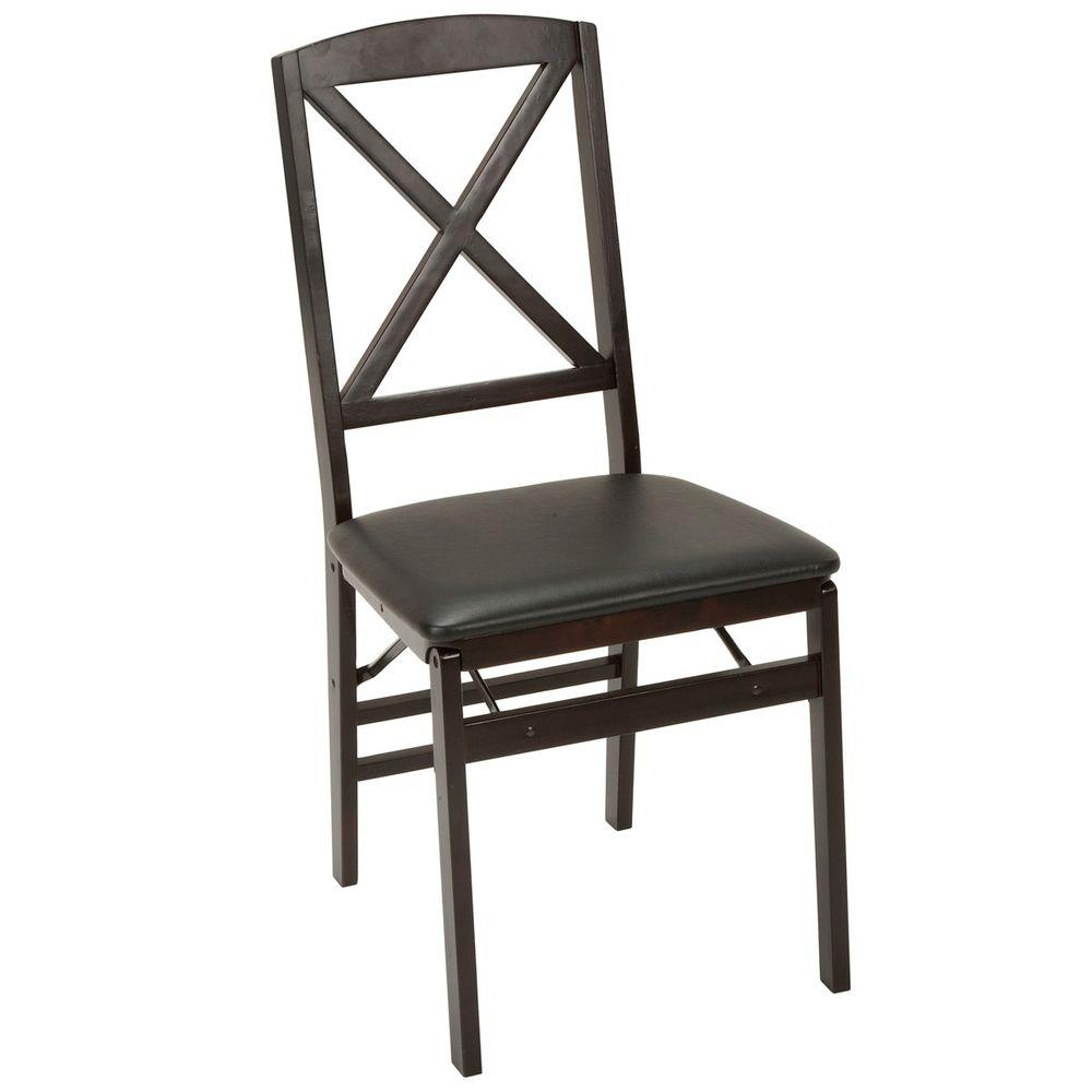 wooden folding table and chairs set kids adirondack chair with umbrella cosco espresso vinyl of 2 39237esp2e the home