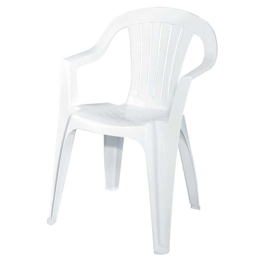 White Stackable Chairs White Patio Low Back Chair 8234 48 4301 The Home Depot