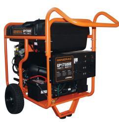 generac 17 500 watt gasoline powered electric start portable generator [ 1000 x 1000 Pixel ]