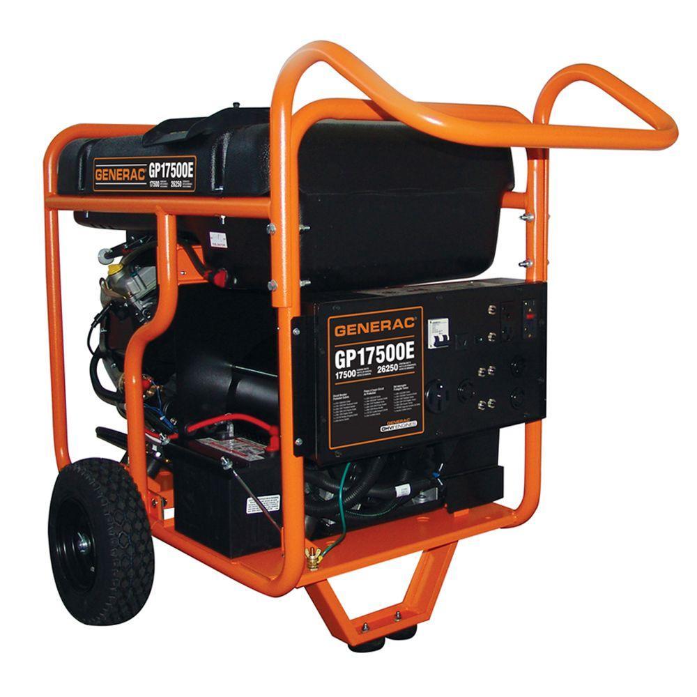 medium resolution of generac 17 500 watt gasoline powered electric start portable generator