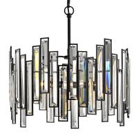 Madison Chandelier Crystal Prisms 18in 3-Light Aged Bronze ...