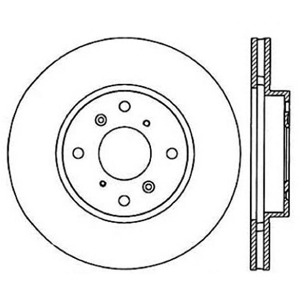 Centric Parts Disc Brake Rotor 1998-1999 Acura CL-121