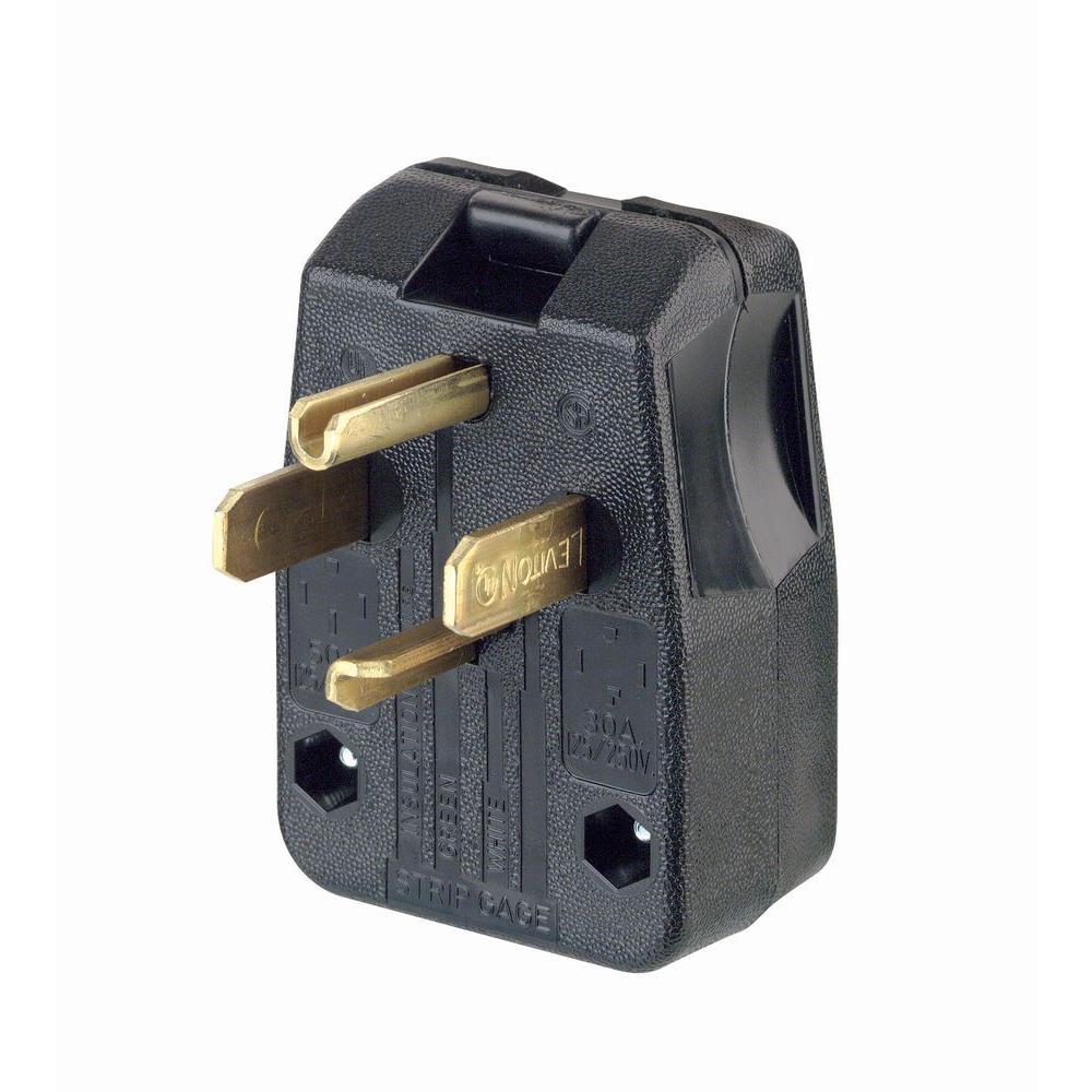 hight resolution of black white green leviton male plug wiring plug