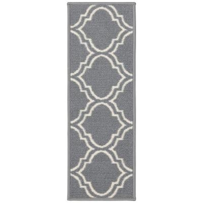 Grays Stair Tread Covers Rugs The Home Depot | Gray Carpet Stair Treads | Black | Set | Wood | Grey Patterned | Fitting Loop Pile Carpet
