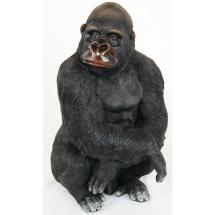 Alpine 14 In. Gorilla Statue-usa602 - Home Depot