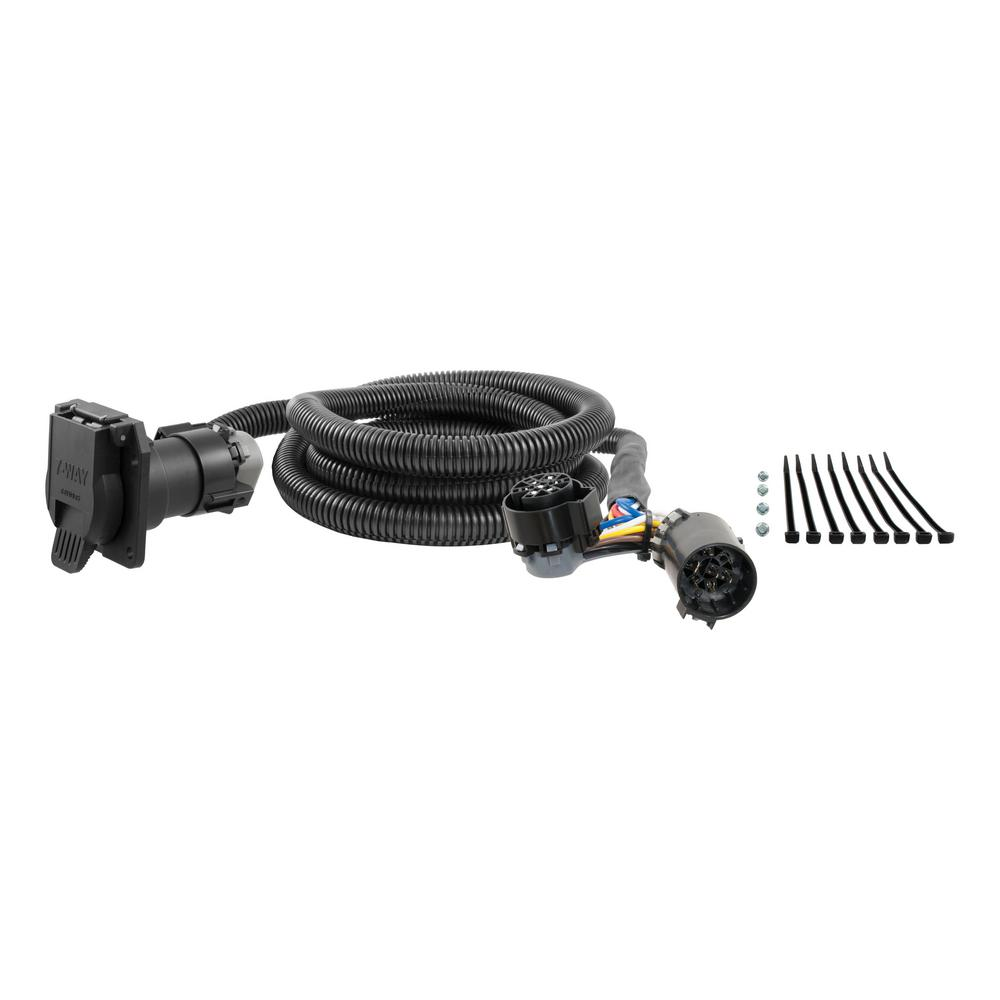 medium resolution of curt 7 custom wiring harness extension adds 7 way rv blade to truck