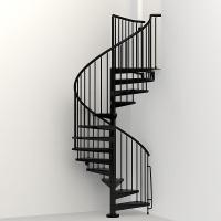 Arke Civik 47 in. Black Spiral Staircase Kit-K03016 - The ...