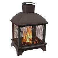 LANDMANN Redford 26 in. Wood Burning Outdoor Fireplace ...