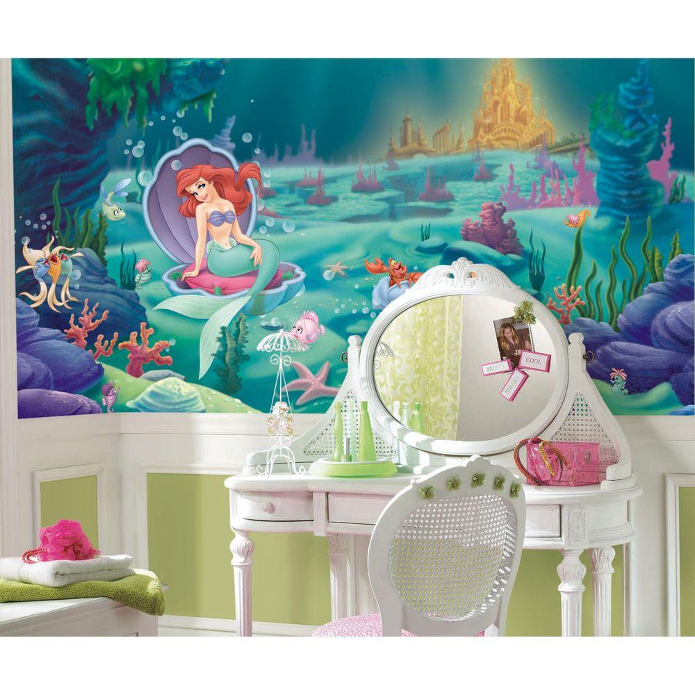 the mermaid chair tablet arm chairs upholstered roommates littlest rail prepasted mural 6 ft x 10 ultra strippable wall applique us only