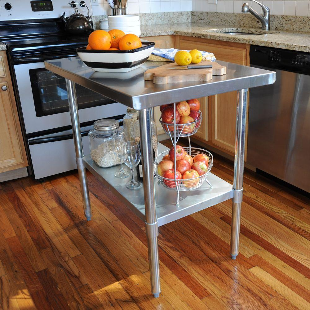 kitchen table small square sportsman stainless steel utility sswtable the home depot