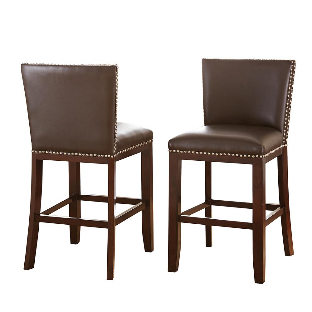 chair stools height rocking glider covers steve silver tiffany counter brown chairs set of 2 tf650ccbn the home depot