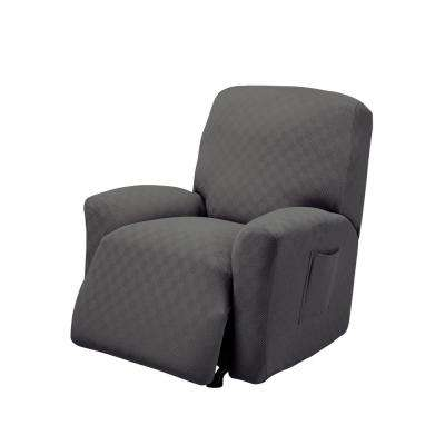 slipcovered living room chairs side recliner slipcovers furniture the home depot grey newport stretch slipcover