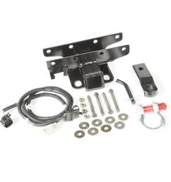 2007 2017 jeep wrangler receiver hitch kit with d shackle [ 1000 x 1000 Pixel ]