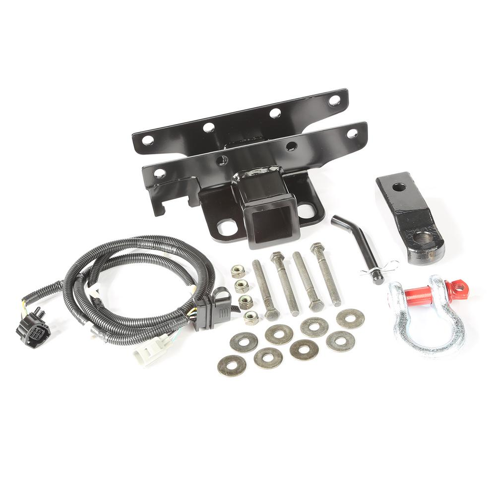 medium resolution of 2007 2017 jeep wrangler receiver hitch kit with d shackle