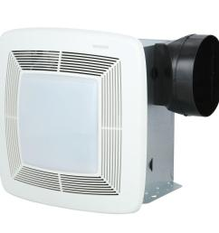 broan qt series very quiet 110 cfm ceiling bathroom exhaust fan with light and night light [ 1000 x 1000 Pixel ]