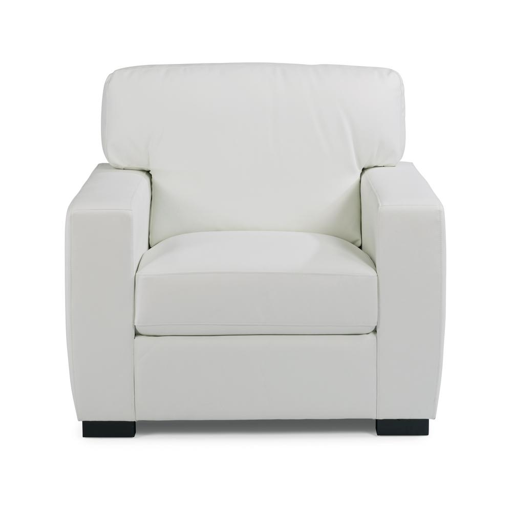 black leather club chair and ottoman fold out bed nz home styles erin ivory white faux