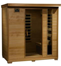 radiant sauna 4 person hemlock infrared sauna with 9 carbon heaters [ 1000 x 1000 Pixel ]