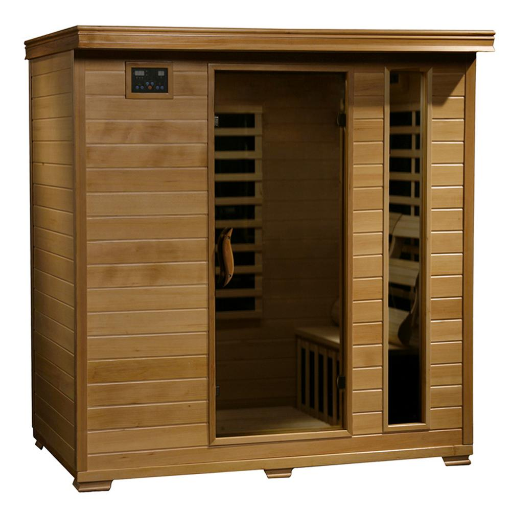 hight resolution of radiant sauna 4 person hemlock infrared sauna with 9 carbon heaters