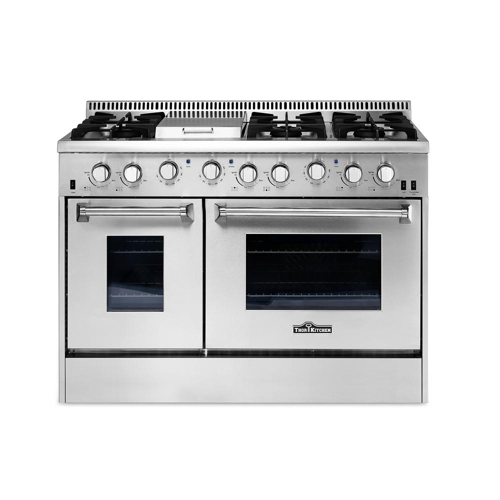 Thor Kitchen 48 In 67 Cu Ft Professional Gas Range In