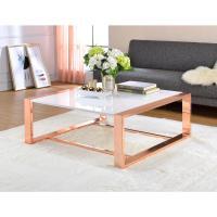 ACME Furniture Porviche White High Gloss and Rose Gold ...