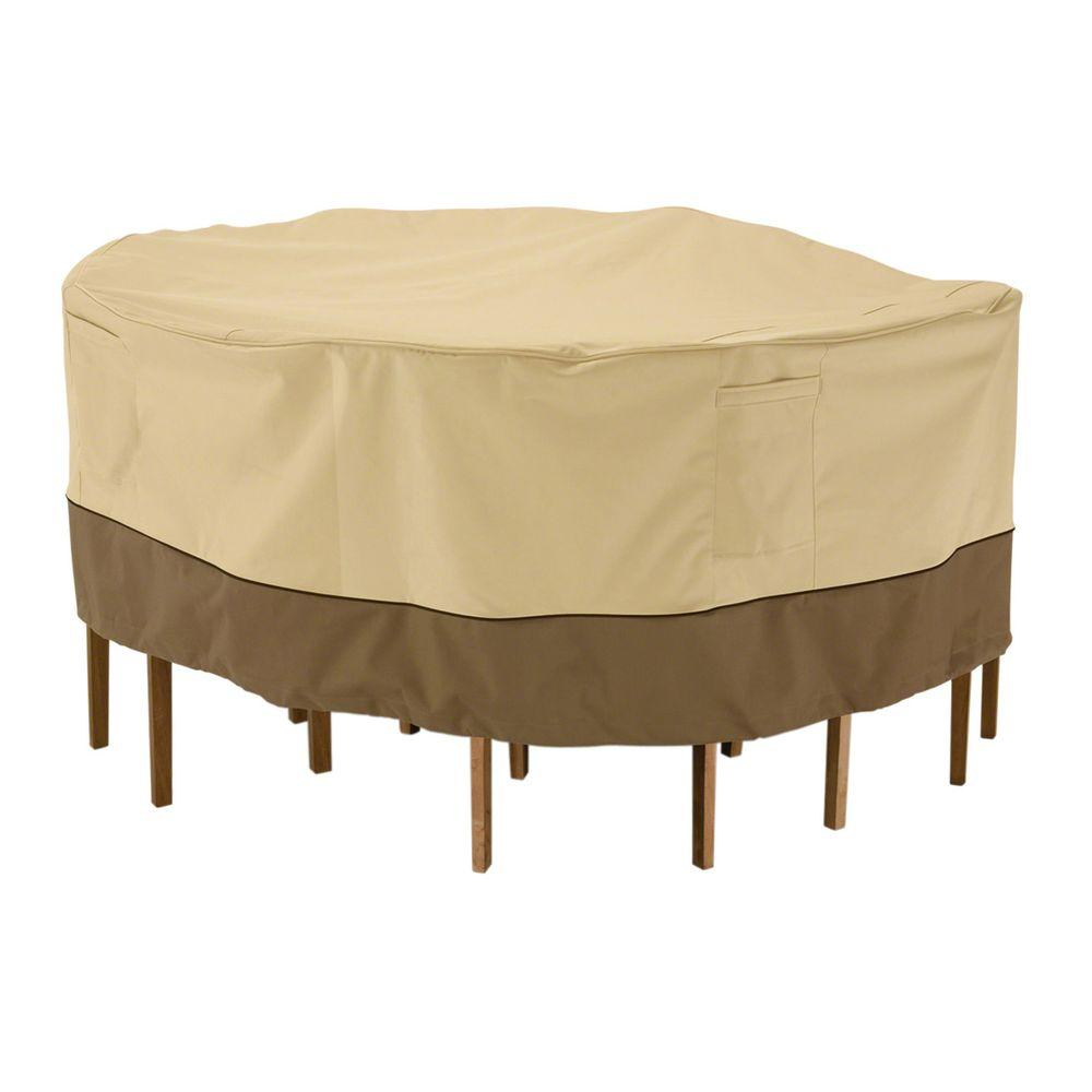 Classic Accessories Veranda Large Round Patio Table and Chair Set Cover78942  The Home Depot