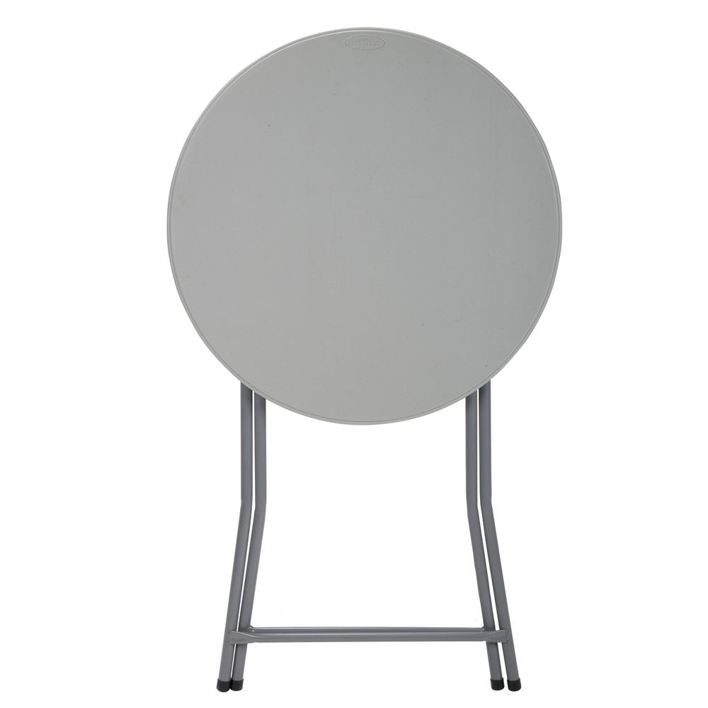 folding circle chairs chair cover hire inverclyde cosco commercial heavy duty 2 5 ft round cocktail table in white