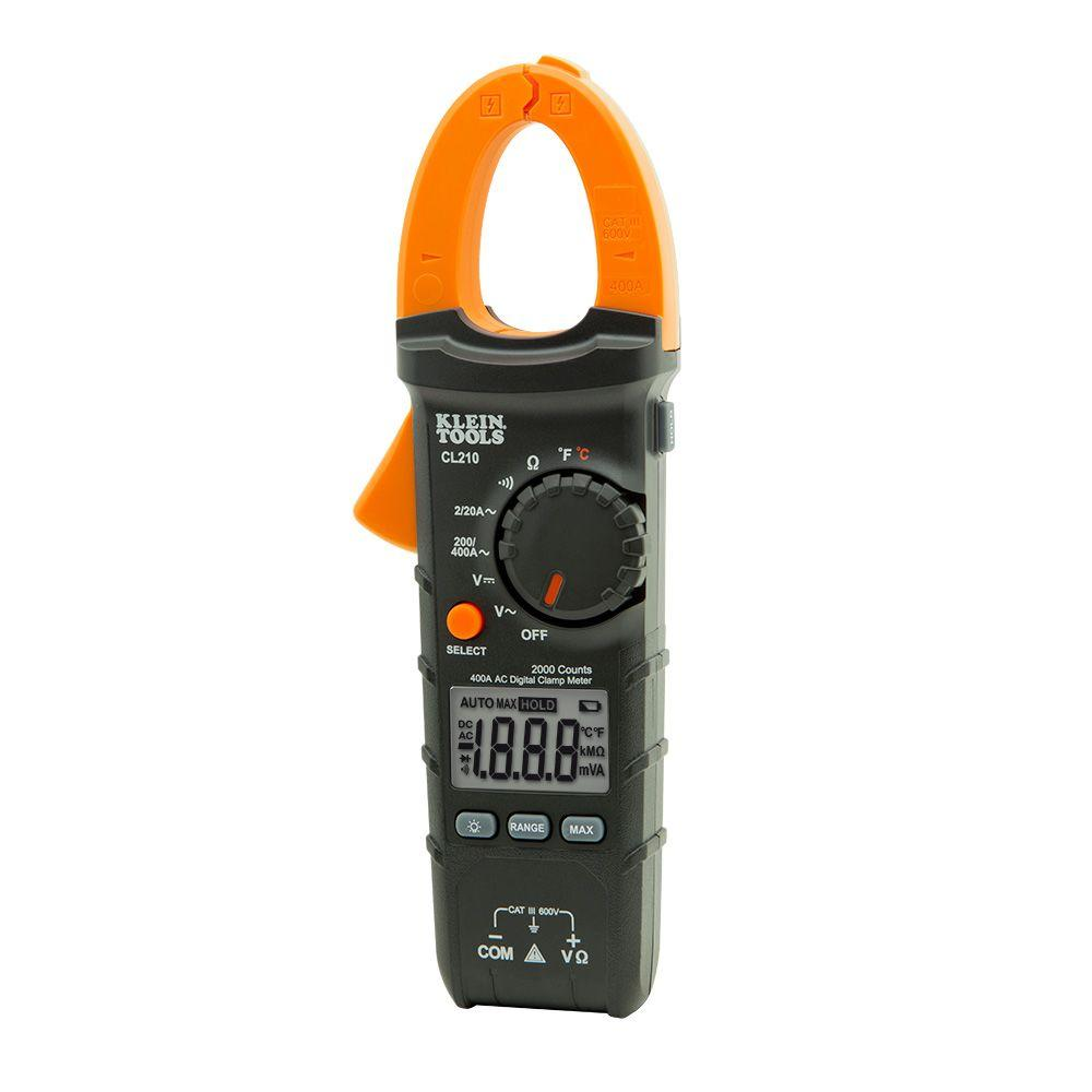 hight resolution of klein tools 400 amp ac auto ranging digital clamp meter with temp