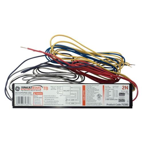 small resolution of ge 120 to 277 volt electronic dimming ballast for 2 or 1 lamp t8 rh homedepot com electrical ballast electrical ballast