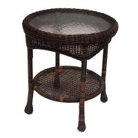 Hampton Bay Spring Haven 20 in. Brown All-Weather Wicker ...