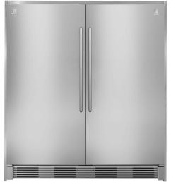 electrolux 72 in double collar trim kit for all refrigerator or all freezer in stainless [ 1000 x 1000 Pixel ]