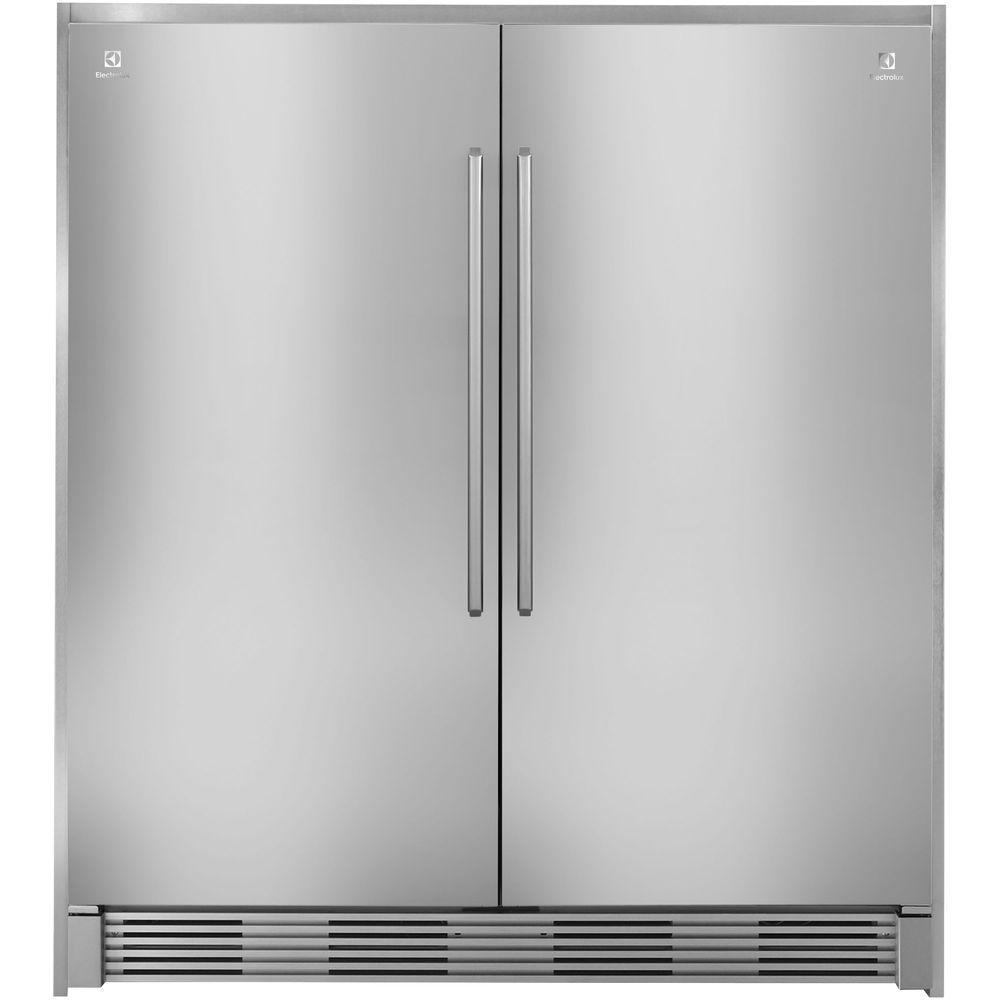 hight resolution of electrolux 72 in double collar trim kit for all refrigerator or all freezer in stainless