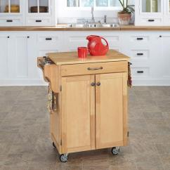 Small Kitchen Carts Sink Fixtures Home Styles Create A Cart Natural With Wood Top