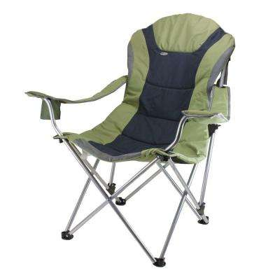 camp folding chairs electronic wheel chair camping furniture the home depot reclining sage green and dark grey patio