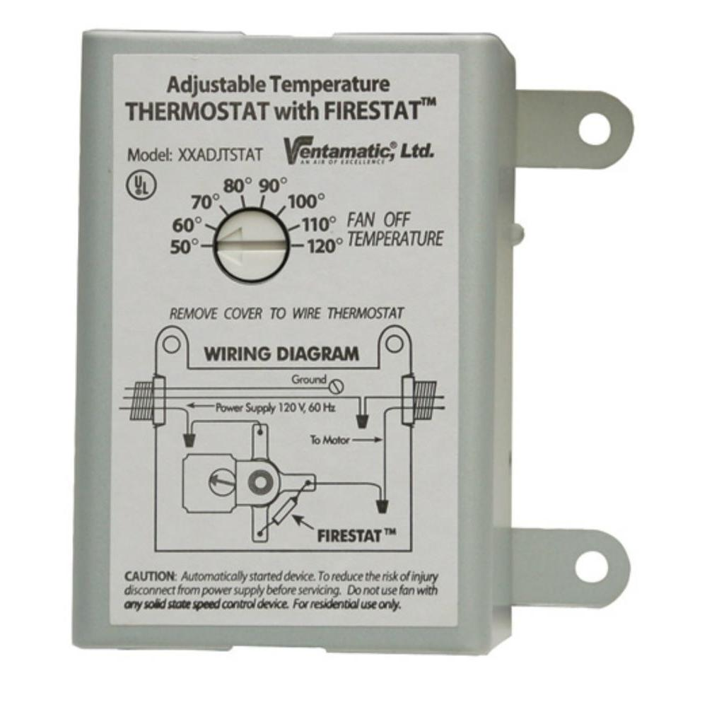 attic fan thermostat wiring diagram 2003 volvo xc90 stereo ventamatic cool 10 amp programmable with firestat