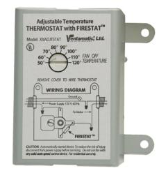 ventamatic cool attic 10 amp programmable thermostat with firestat [ 1000 x 1000 Pixel ]