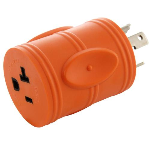 small resolution of generator locking adapter l5 30p 30a 125v 3 prong locking plug to 5 15 20r 15 20 amp household t blade female connector