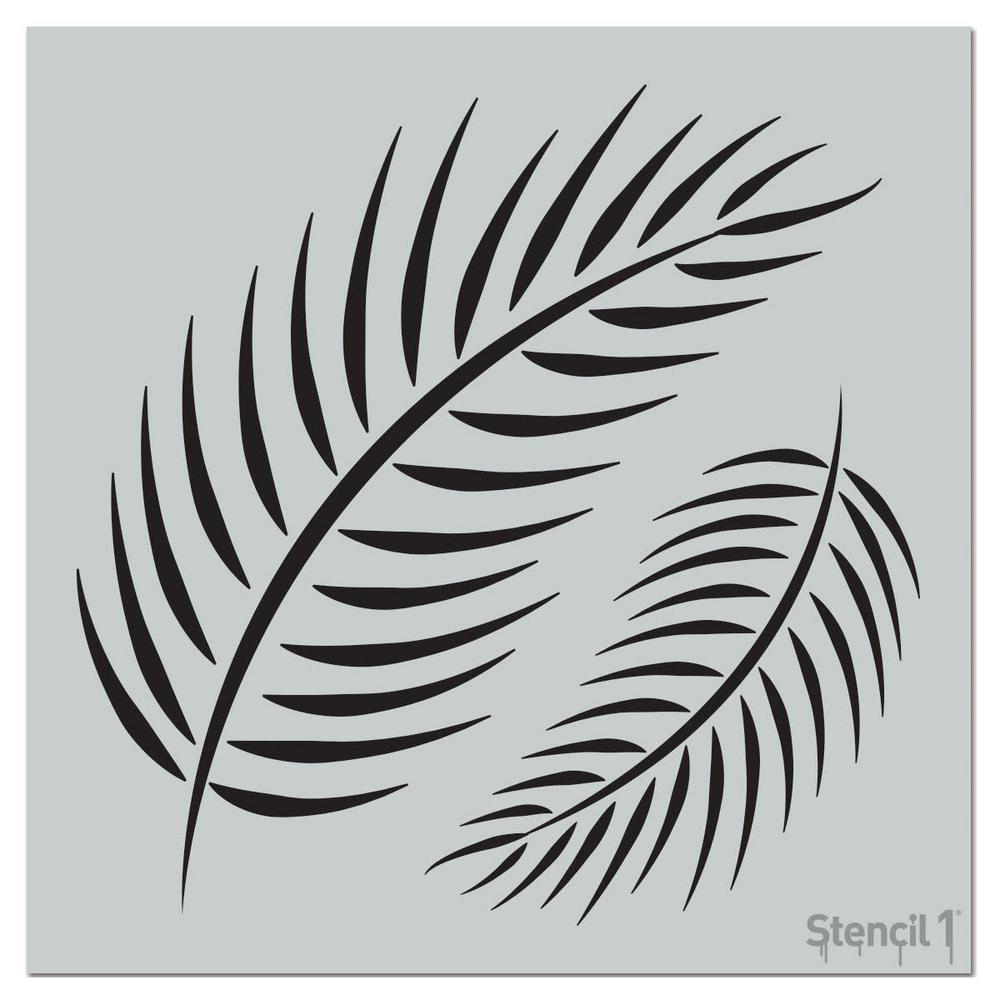 Stencil1 Palm Fronds Repeat Pattern Stencil-S1_PA_100