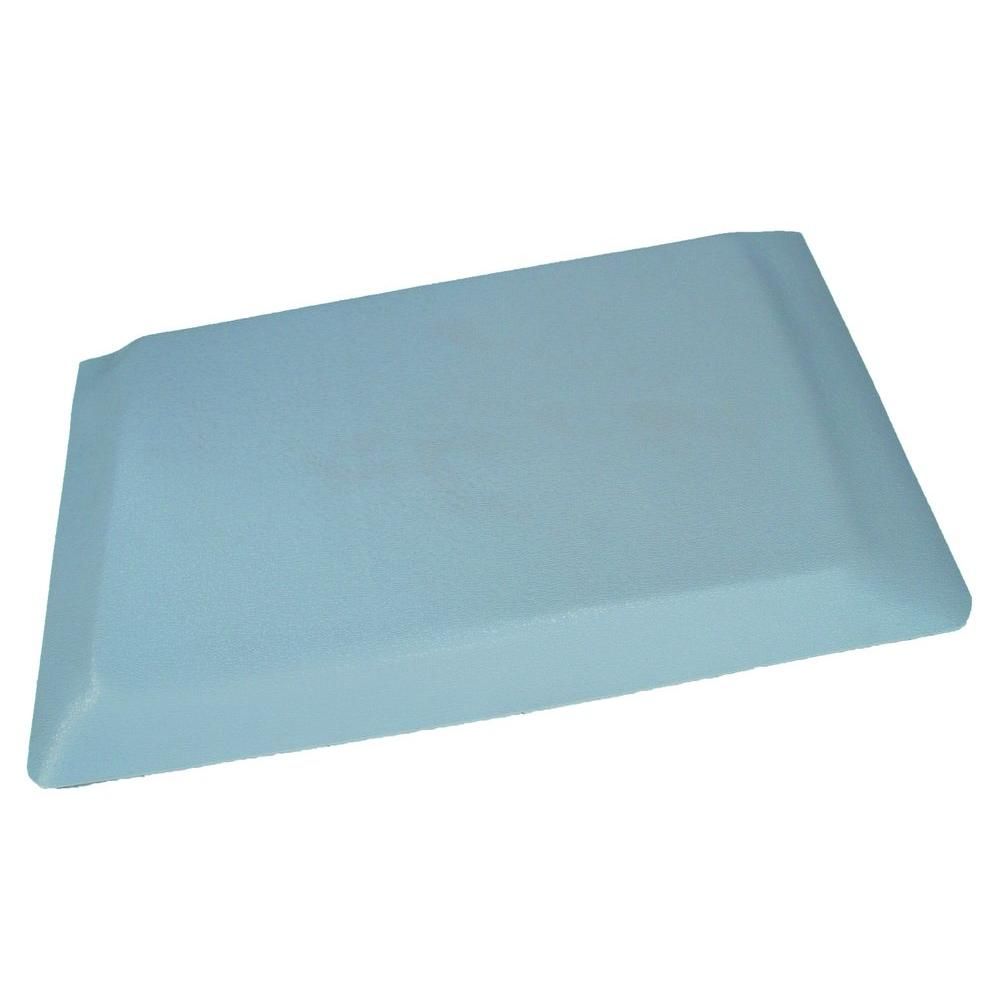 grey kitchen mat cabinet colors for small kitchens rhino anti fatigue mats hide pebble brushed surface 24 in x 96