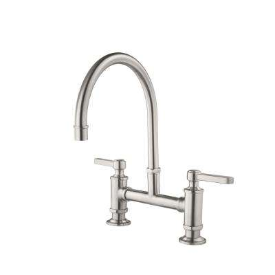 bridge faucets kitchen corner table with bench the home depot port haven 2 handle faucet